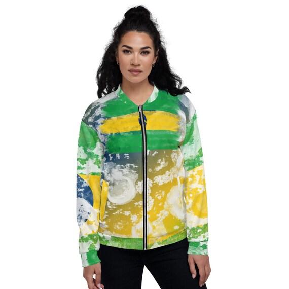 Tye Dye Bomber Jacket, Satin Bomber Jacket Green, , Brazil bomber jacket women, Varsity Bomber Jacket Satin, Colorblock Jacket Bomber
