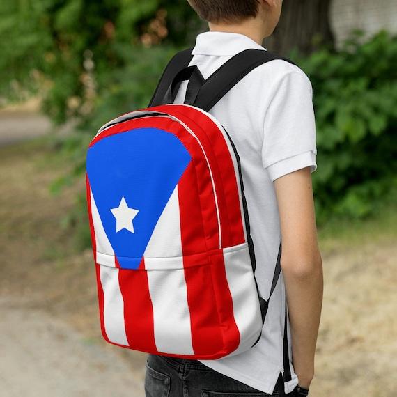 Blue backpack women, waterproof backpack, rucksack, travel backpack, beach bag, small backpack, hipster backpack, weekender bag, Puerto Rico
