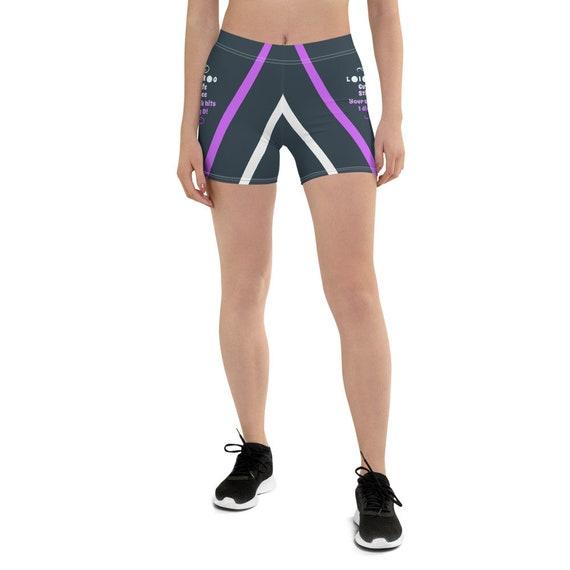 Woman Purple Shorts, Shorts Woman, Festival Rave Yoga Shorts, Shorts for Woman by Anybody, Tie Up Shorts, Girls Volleyball Shorts, Shorts