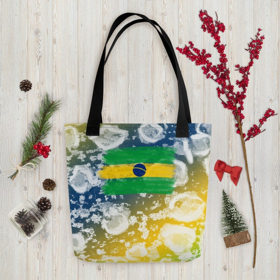 Brasil, Brazil, Sao Paulo, Cute Tote bag, funny tote bag, animal tote bag, teacher tote, book bag, Small Bag For Woman, Green Weekender Bag
