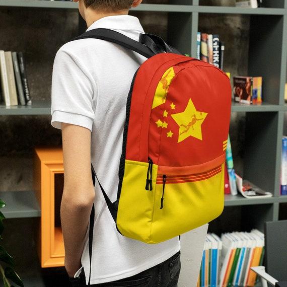 yellow kids backpack, waterproof backpack, red rucksack, travel backpack, beach bag, small backpack, hipster backpack, weekender bag, China