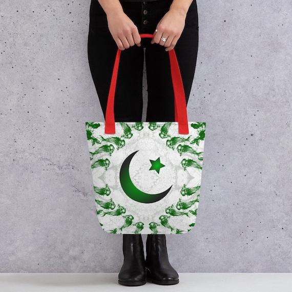 Pakistani, pakistan, Cute Tote bag, college school supplies, funny tote bag, animal tote bag, teacher tote, book bag, bridesmaid bag,
