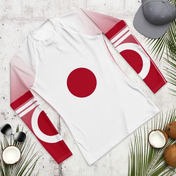 Rash guard, Rashguard, Beach Cover up, Long Sleeve Swimsuit, Modest Swimwear, Swimsuit, Bathing Suit, Japan Flag, activewear, loungewear
