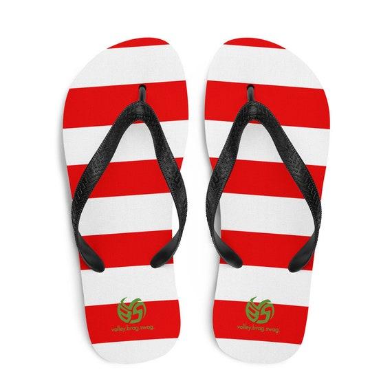 Puerto Rico Flip Flops, Red Thongs, Puerto Rico Flag, Poland Gifts, Puerto Rico Gifts, Puerto Rico Slippers, Volleyball Flip Flops,