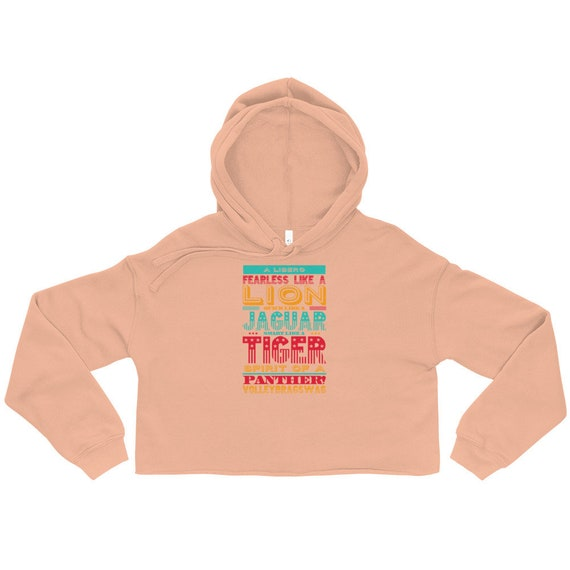 A Libero Is Fearless Like A Lion gym hoodie, cropped hoodie, crop top hoodie, crop hoodie, pink crop hoodie, crop hoody Volleyball Gifts