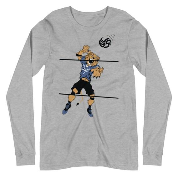 lion hoodie, lion volleyball, lion volleyball shirt, volleyball volleyball 4x, lion hoody, gym hoodie, girl volleyball sweatshirt, girl gift