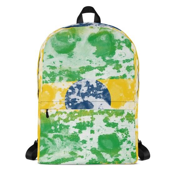 kids backpack, waterproof backpack, tye dye, travel backpack, beach bag, small backpack, hipster backpack, weekender bag, backpack, Brasil