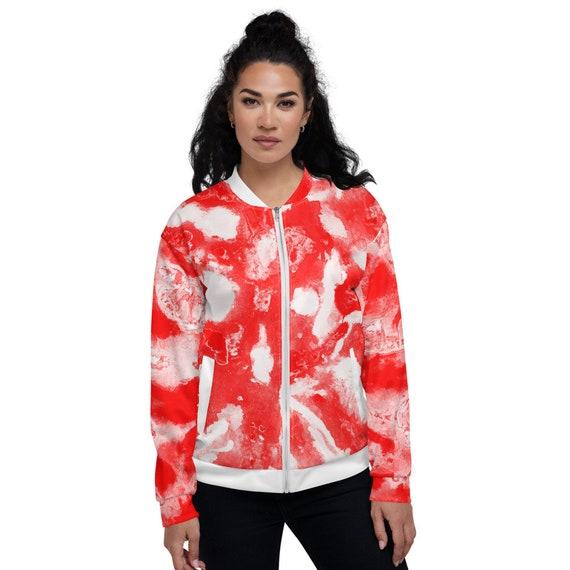Tye Dye Bomber jacket, Japan bomber jacket women, Varsity Bomber Jacket Satin, Red Bomber Jacket, Jacket Bomber, Colorblock Bomber Jacket