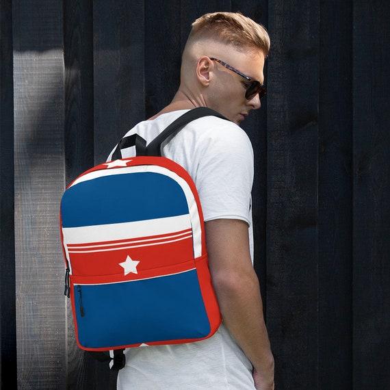 blue kids backpack, waterproof backpack, rucksack, travel backpack, beach bag, small backpack, hipster backpack, weekender bag, Puerto Rico