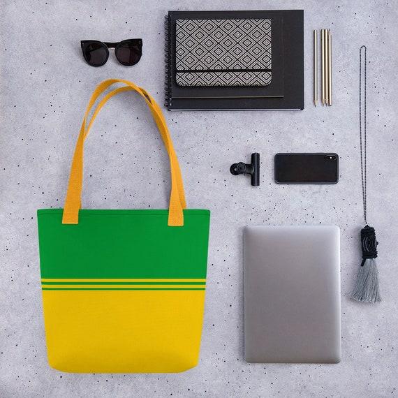 Cute Tote Bag for School, funny tote bag, animal tote bag, teacher tote, book bag, bridesmaid bag, Bag For Kid, Bag For Woman Yellow, Brazil