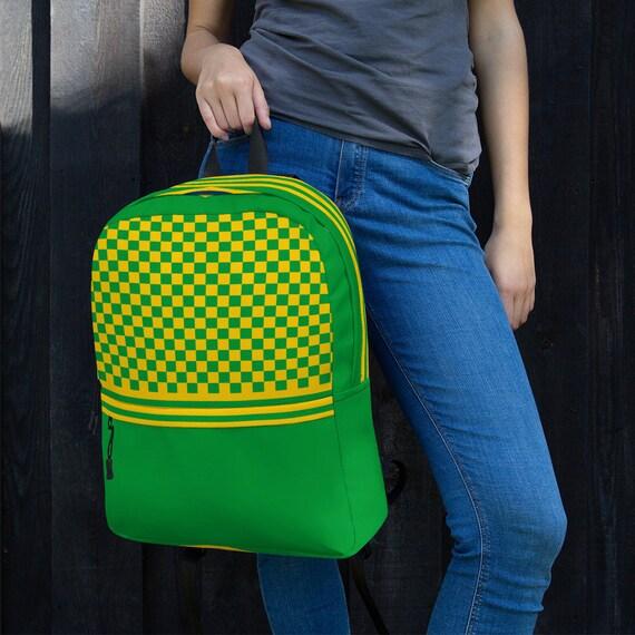 backpack women, kids backpack, waterproof backpack, green travel backpack, beach bag, small backpack, hipster backpack, green weekender bag,