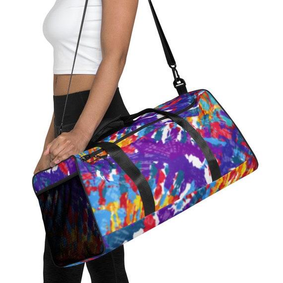 Tie Dye Duffle Bag, Duffle bag, weekender bag, shoulder bag, gym bag, duffel bag, weekend bag, duffle bag women, duffle bags, volleyball