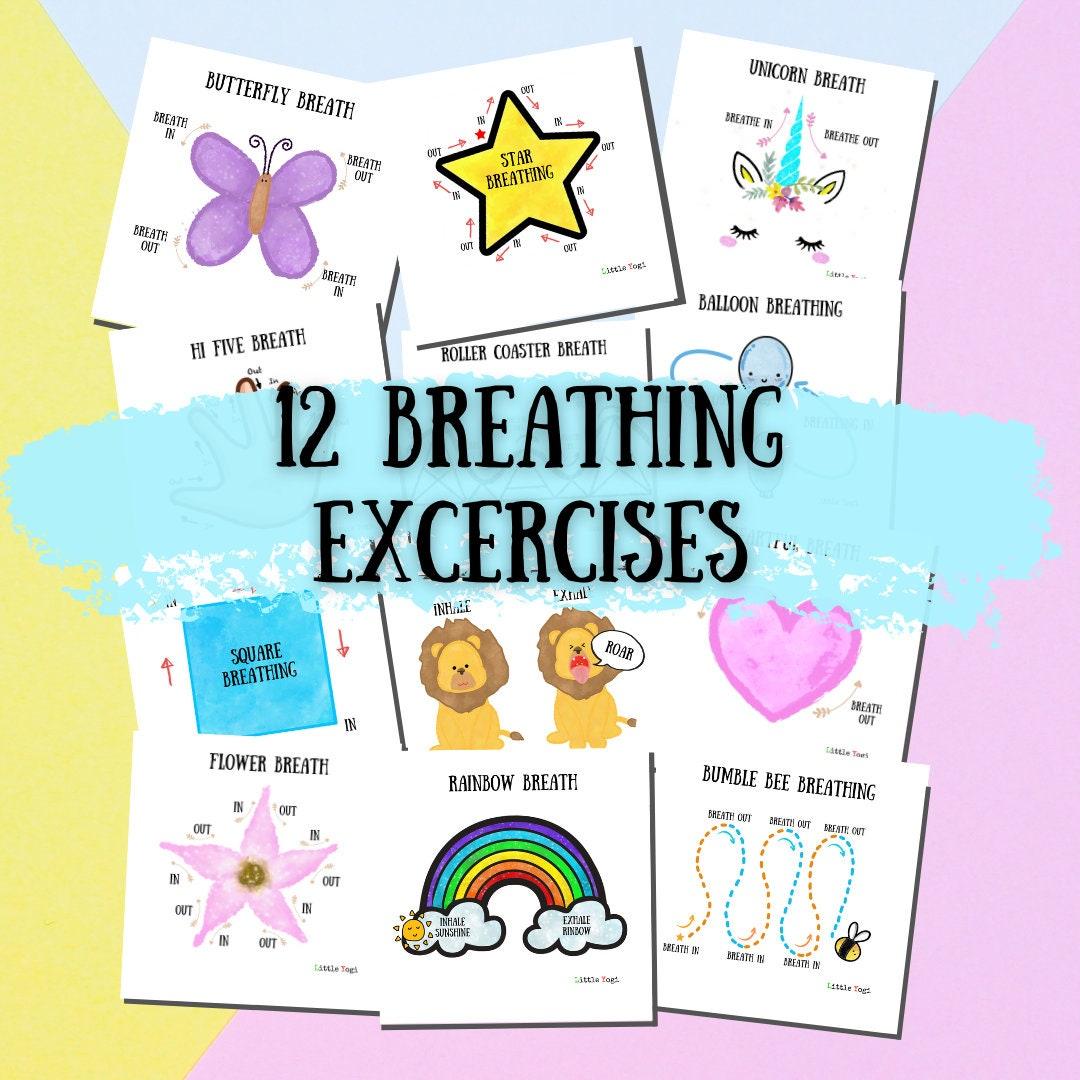 50 Breathing Exercises for Kids   Printable PDF   Yoga Kids Meditation  Mindfulness