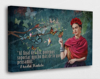 Frida Kahlo The Two Fridas HD Print on canvas ready to hang large size wall picture beautiful home decoration wall painting 24x24 inches