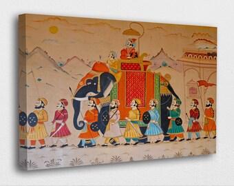 Indian Canvas Art Etsy