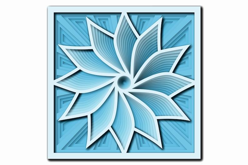 Download Layered Mandala SVG Files Laser cut file Mandala 3D Flower ...