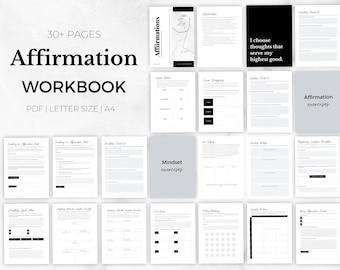 Affirmation Workbook, Affirmation Journal, Daily Affirmations, Mindset Journal, Gratitude Journal, Wellness Journal, Mindfulness Journal