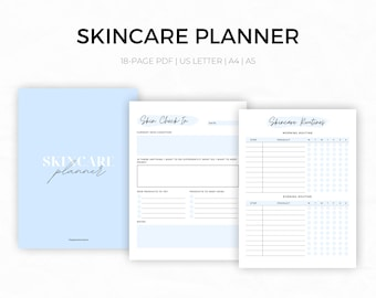 Skincare Planner Printable   Skincare Tracker   Skincare Routine   Skincare Journal   Beauty Planner   Beauty Routine   Glow Up Planner   A5