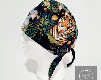 Animals Scrub Hat. Fully lined Oeko-Tex Certified. 1 DAY DISPATCH