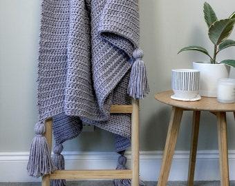 CROCHET PATTERN Twilight Haze Blanket   Crochet Blanket Pattern   Crochet Throw Pattern   Beginner Crochet Pattern   Easy Crochet Pattern
