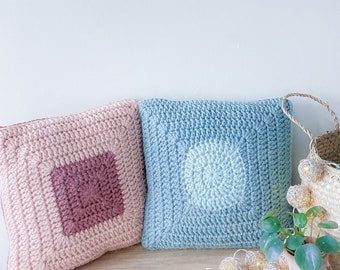 CROCHET PATTERN Two Cushion Covers - Earth & Sky   Crochet Cushion Pattern   Crochet Pillow Pattern   Home Crochet Pattern   Modern Crochet