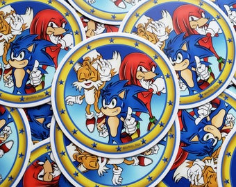 Sonic, Tails, and Knuckles Sticker