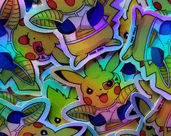 Dragonball Z Pokemon Pikachu-Vegeta Armor Holographic Stickers