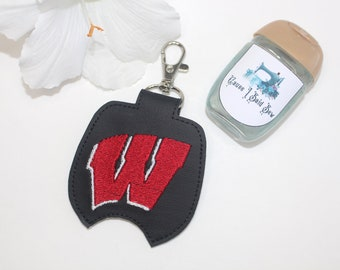 Hand Sanitizer Holder - Wisconsin, Badgers