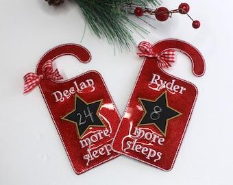 Christmas Countdown Door Hanger, Chalkboard Countdown Christmas