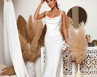 Silk Wedding Dress Etsy,Can You Add A Train To A Wedding Dress