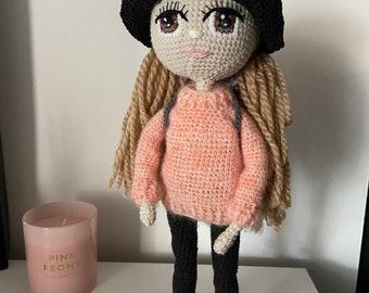 Crochet doll, amigurumi doll, Handmade doll