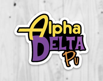 Alpha Delta Pi Laptop Sticker   Free Shipping   Water Bottle Stickers   Stickers   Decal   Sorority Gift   Big Little Reveal