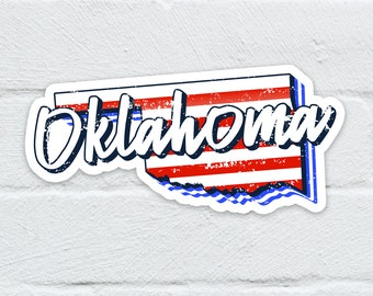 Oklahoma State Water Resistant Sticker   Laptop Decal   Hydro Flask   Notebook   Journal   Water Bottle   Free Shipping