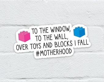 Motherhood Sticker   Laptop Decal   Hydro Flask   Notebook   Journal   Water Bottle   Free Shipping