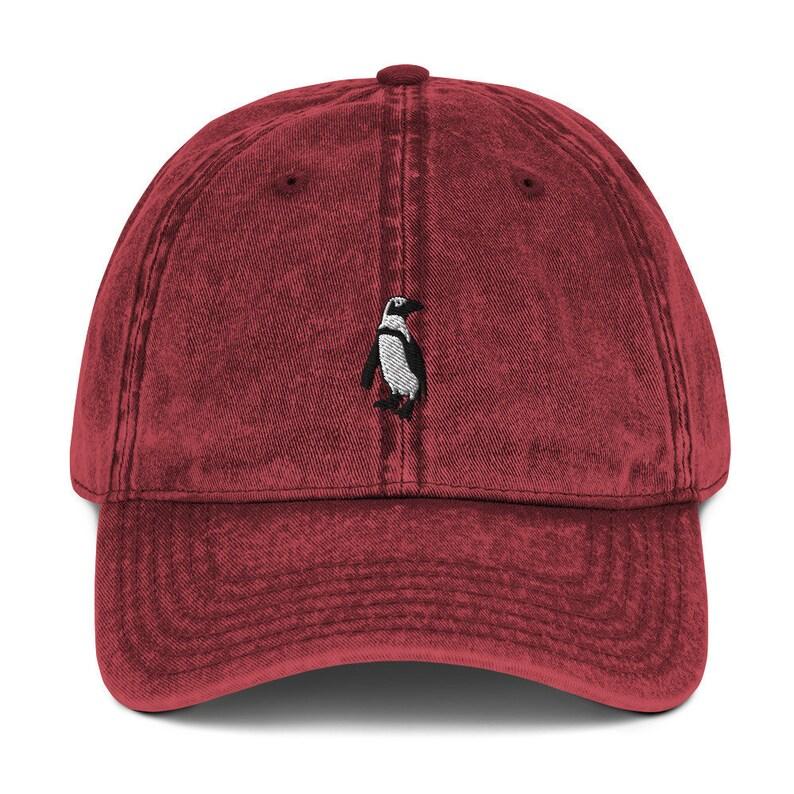 nature hat Vintage Penguin Baseball Cap Dad hat bird hat bird lover gift African Cape Penguin embroidered hat penguin cap wildlife
