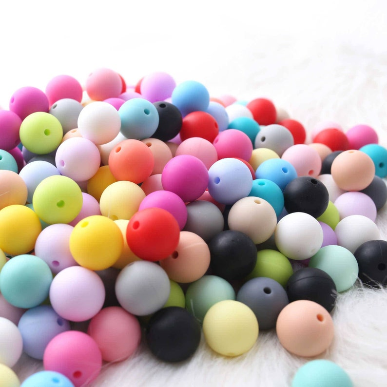 Pack of 50100500 12mm Silicone Round BeadsCraftsJewellery MakingMulticolorWholesale