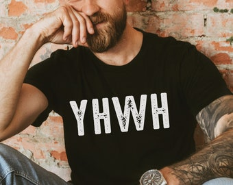 YHWH Shirt, Yahweh Hebrew Shirt, Christian Shirts for Men, Names of God Shirt, Bible Verse Shirt, Christian Gifts, Womens Christian Shirts