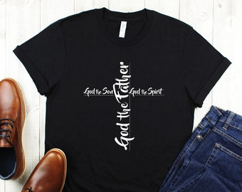 Christian TShirt, Faith TShirt, Christian Cross Shirt, God Shirt, Worship Shirt, Bible Shirt, Teal Cross Shirt, Kingdom Shirt, Unisex Tshirt
