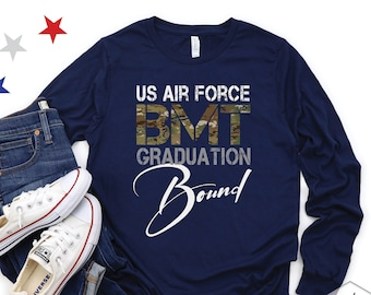 Air Force BMT Graduation Bound Shirt, Air Force Graduation, Air Force Long Sleeve, Air Force TShirts, WingMom Tee, Proud Air Force Mom Shirt