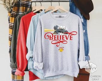 Believe Sweatshirt, Christmas Express Train, Womens Christmas Sweatshirt, Polar Shirt, Christmas Sweater for Women, Christmas Train Shirt