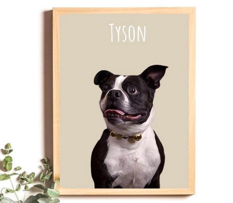 Family Pet Portrait Physical Print Mothers Day gift Pet Prints, Family personalised Pet Portrait Pet lovers Dog gift
