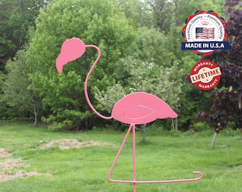 Ms. Pink Flamingo Garden Stake Combo, Garden Flamingo, Flamingo Ornament - Lifetime Warranty