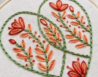 THREE HEARTS embroidery pattern pdf