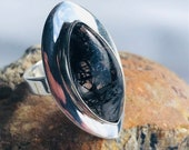 Tourmaline Quartz Silver Ring