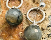 Earrings Labradorite and Silver