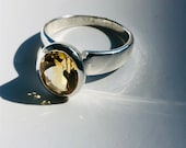Citrine ring silver, citrine ring oval faceted, citrine, citrine jewelry, women's rings, gemstone rings