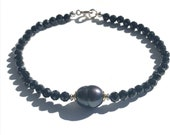 Spinel bracelet with freshwater pearl, bicolor