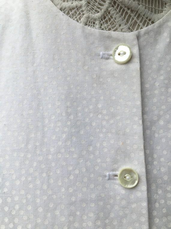 1980s white puff sleeve blouse - image 5