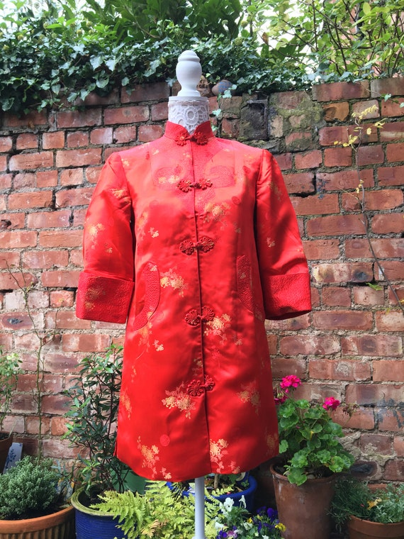 Vintage 1960s Cheongsam coat