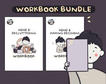 Decluttering & Making Decisions Workbook Bundle   ADHD   Journal   Worksheet   Self-help   Printable   Self-love